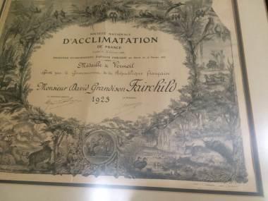 D'ACCLIMATION ~ Monsieur David Grandison Fairchild ~ 1923